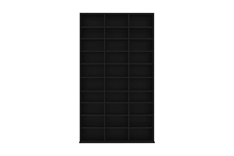 CD-hylla svart 102x23x177,5 cm spånskiva - Svart - Möbler - TV- & Mediamöbler - CD-hylla & DVD-hylla