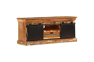 TV-bänk 110x30x45 cm massivt återvunnet trä