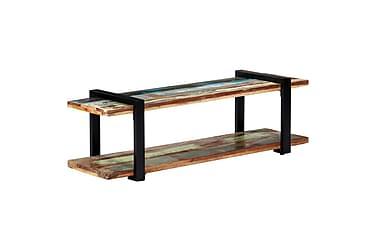 TV-bänk 130x40x40 cm massivt återvunnet trä