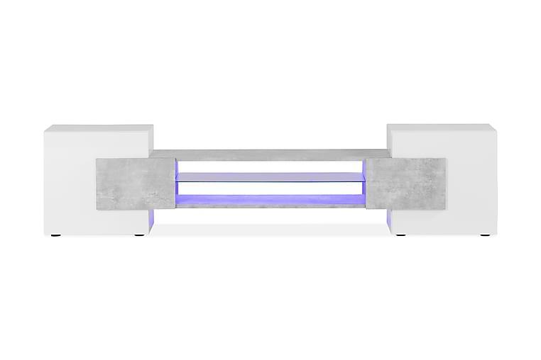TV-bänk Aime 258 cm - Vit Betong - Möbler - TV- & Mediamöbler - TV-bänk & mediabänk