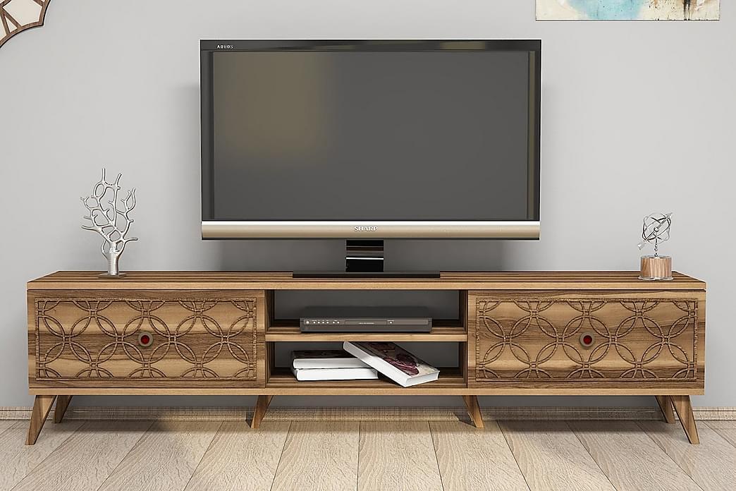 TV-Bänk Amtorp 180 cm - Brun - Möbler - TV- & Mediamöbler - TV-bänk & mediabänk
