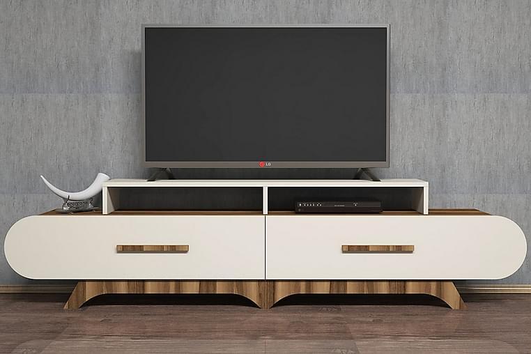 TV-Bänk Amtorp 205 cm - Brun - Möbler - TV- & Mediamöbler - TV-bänk & mediabänk