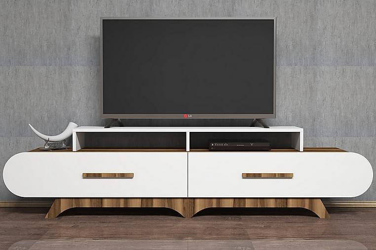TV-Bänk Amtorp 205 cm - Brun|Vit - Möbler - TV- & Mediamöbler - TV-bänk & mediabänk