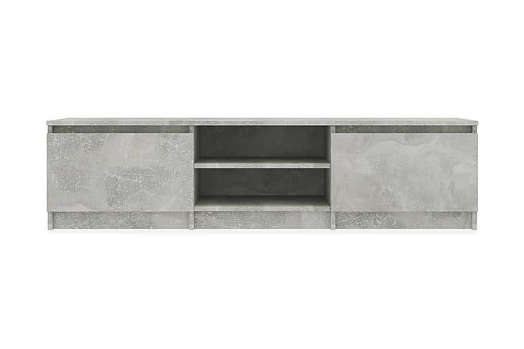 TV-bänk betonggrå 140x40x35,5 cm spånskiva - Grå - Möbler - TV- & Mediamöbler - TV-bänk & mediabänk