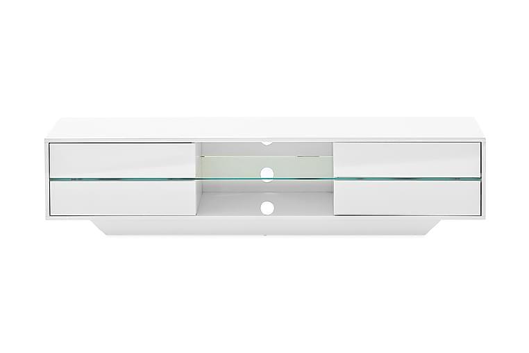 TV-bänk Byxelkroken 160 cm LED-belysning - Vit - Möbler - TV- & Mediamöbler - TV-bänk & mediabänk