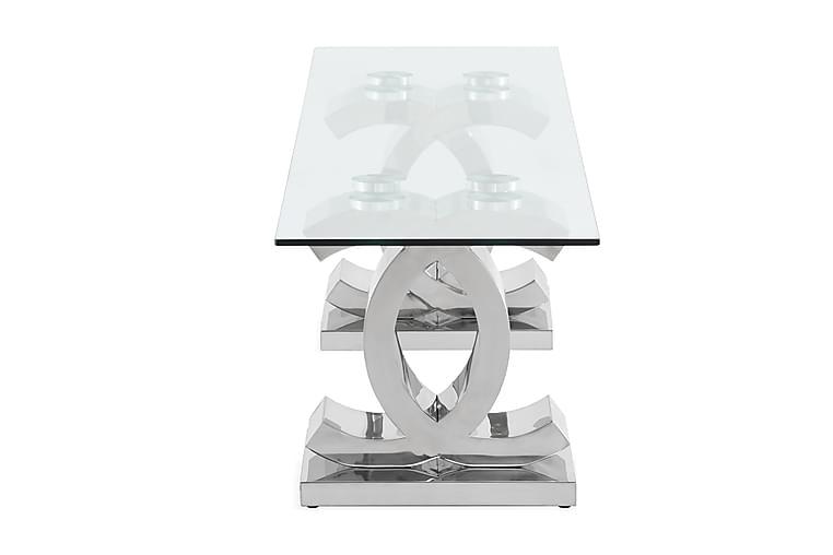 TV-Bänk Decora 180 cm - Rostfritt Stål Glas Transparent - Möbler - TV- & Mediamöbler - TV-bänk & mediabänk