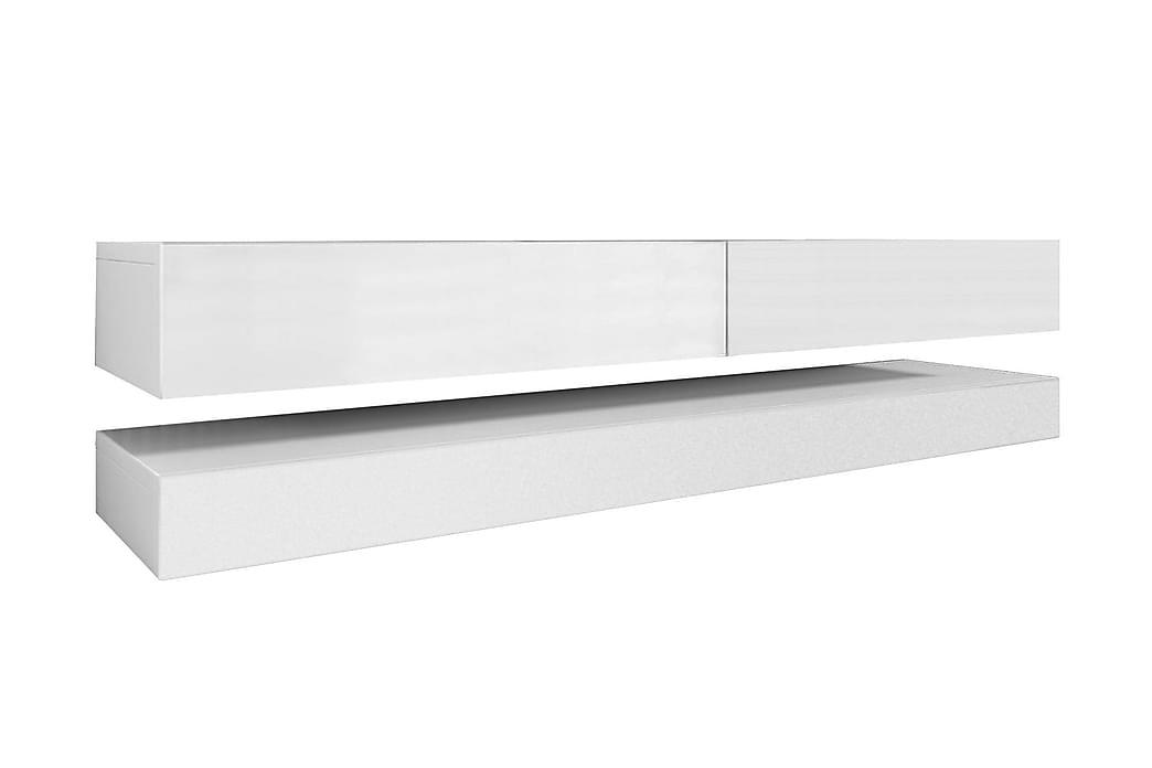 TV-bänk Dublin 140 cm med LED-belysning - Vit - Möbler - TV- & Mediamöbler - TV-bänk & mediabänk