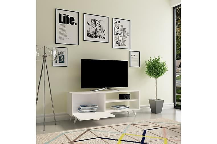 TV-Bänk Dumö 120 cm - Vit - Möbler - TV- & Mediamöbler - TV-bänk & mediabänk