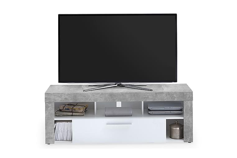 TV-bänk Eriza 150 cm - Vit|Betong - Möbler - TV- & Mediamöbler - TV-bänk & mediabänk