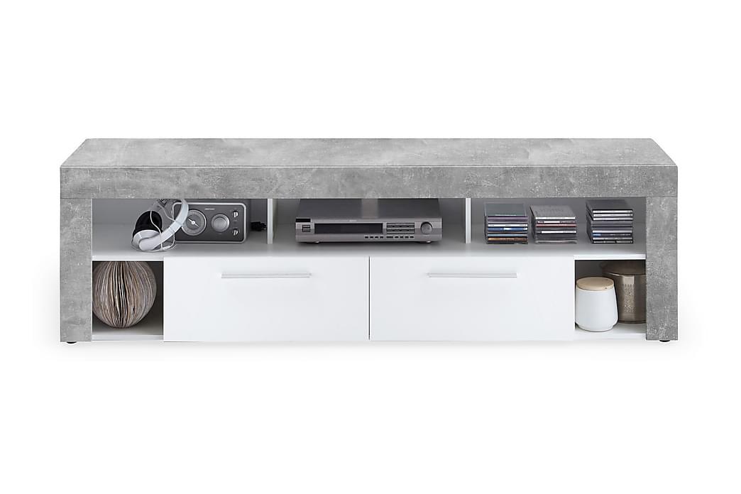 TV-bänk Eriza 180 cm - Vit Betong - Möbler - TV- & Mediamöbler - TV-bänk & mediabänk