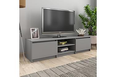 TV-bänk grå 140x40x35,5 cm spånskiva
