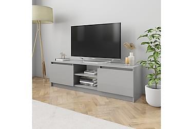 TV-bänk grå högglans 120x30x35,5 cm spånskiva