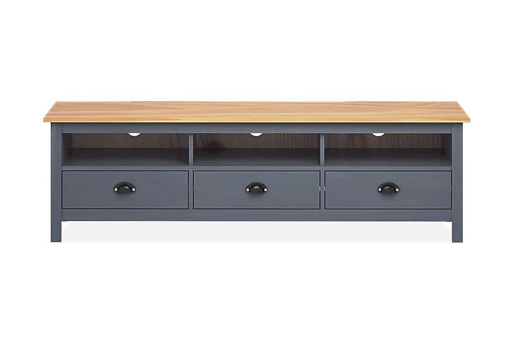 TV-bänk Hill Range grå 158x40x47 cm massiv furu - Grå - Möbler - TV- & Mediamöbler - TV-bänk & mediabänk