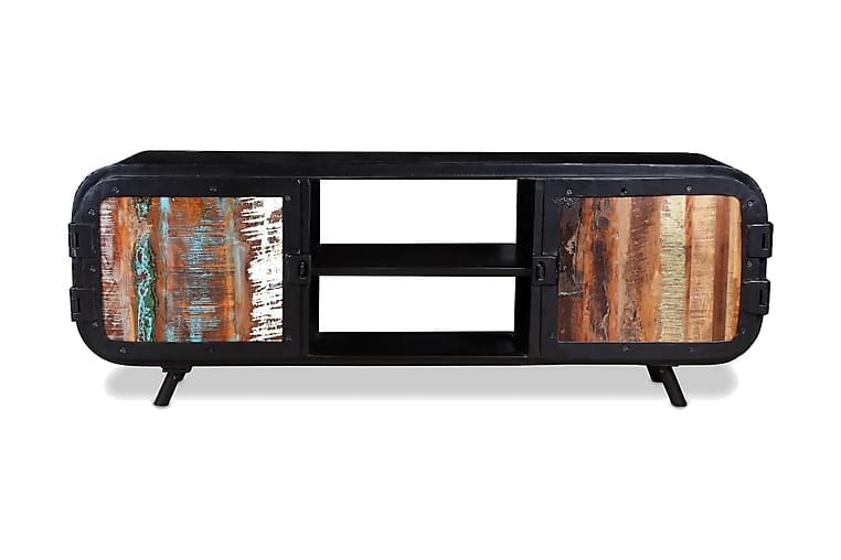 TV-bänk i återvunnet trä 120x30x45 cm - Svart - Möbler - TV- & Mediamöbler - TV-bänk & mediabänk