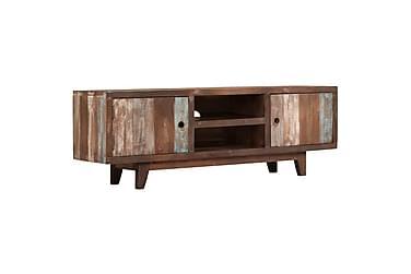 TV-bänk massivt akaciaträ vintage 118x30x40 cm