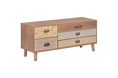 TV-bänk med 5 lådor 90x30x40 cm massiv furu