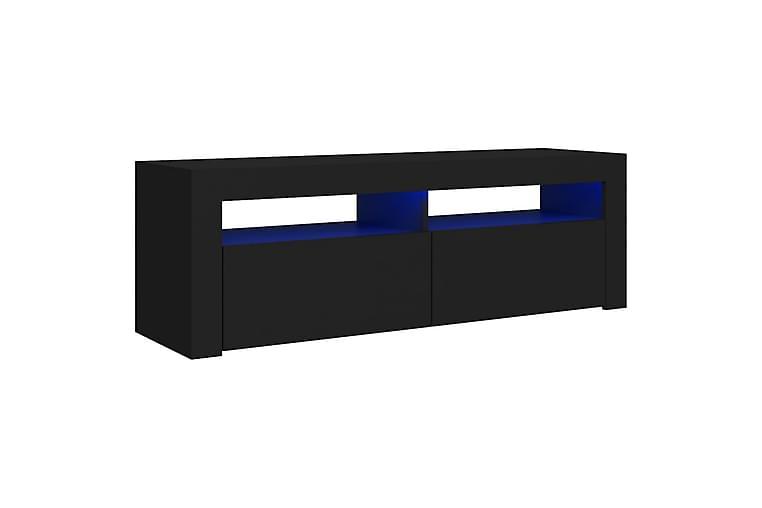 TV-bänk med LED-belysning svart 120x35x40 cm - Svart - Möbler - TV- & Mediamöbler - TV-bänk & mediabänk