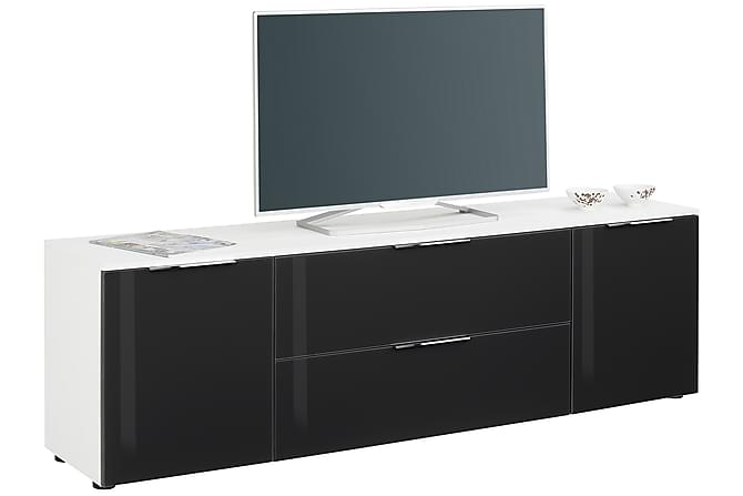 TV-bänk Monreal 180,4x55 cm - Vit|Mörkgrått Glas - Möbler - TV- & Mediamöbler - TV-bänk & mediabänk