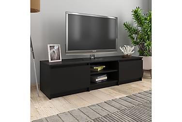 TV-bänk svart 140x40x35,5 cm spånskiva