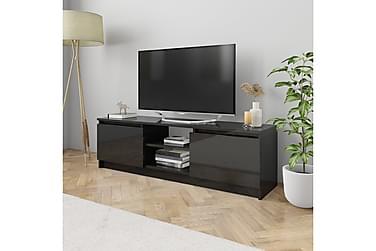 TV-bänk svart högglans 120x30x35,5 cm spånskiva
