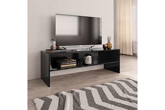 TV-bänk svart högglans 120x40x40 cm spånskiva - Svart - Möbler - TV- & Mediamöbler - TV-bänk & mediabänk