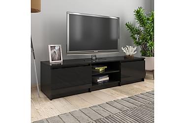 TV-bänk svart högglans 140x40x35,5 cm spånskiva