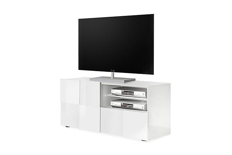 TV-bänk Tabor 121 cm - Vit Högglanslack - Möbler - TV- & Mediamöbler - TV-bänk & mediabänk