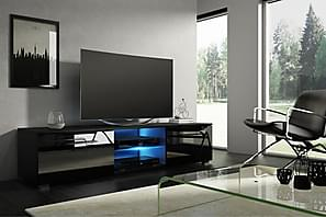 TV-bänk Terisa 140 cm LED-belysning