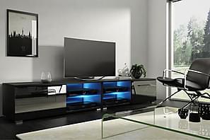 TV-bänk Terisa 200 cm LED-belysning