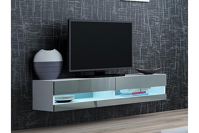 TV-bänk Vigo 140x40x30 cm - Svart|Grå - Möbler - TV- & Mediamöbler - TV-bänk & mediabänk