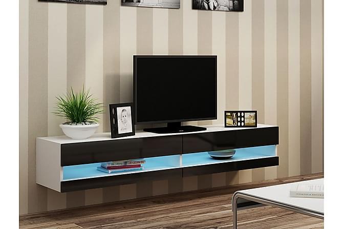 TV-bänk Vigo 180x40x30 cm - Vit|Svart - Möbler - TV- & Mediamöbler - TV-bänk & mediabänk
