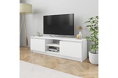 TV-bänk vit 120x30x35,5 cm spånskiva
