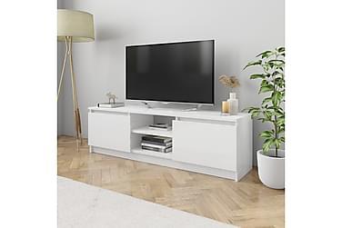TV-bänk vit högglans 120x30x35,5 cm spånskiva