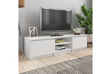 TV-bänk vit högglans 140x40x35,5 cm spånskiva