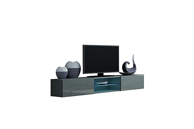 TV-bänk Vigo 180x40x30 cm - Svart|Grå - Möbler - TV- & Mediamöbler - TV-bänk & mediabänk