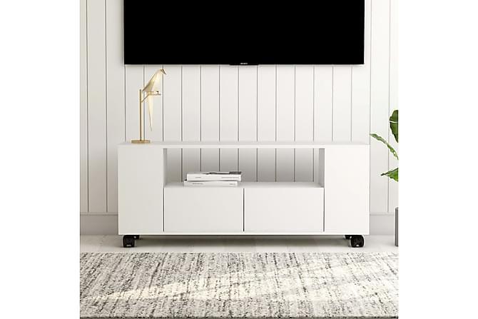 TV-bänk vit 120x35x43 cm spånskiva - Vit - Möbler - TV- & Mediamöbler - TV-bänk & mediabänk