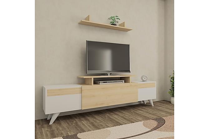 TV-Möbelset Killilan 180 cm - Vit Ek - Möbler - TV- & Mediamöbler - TV-bänk & mediabänk