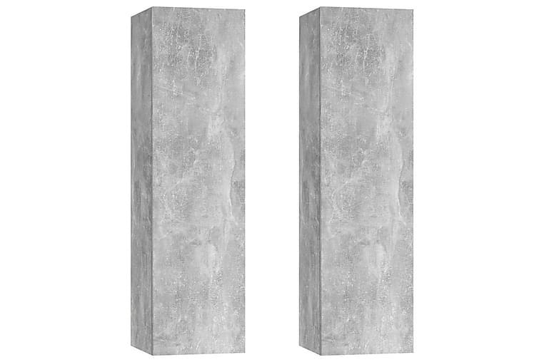 TV-skåp 2 st betonggrå 30,5x30x110 cm spånskiva - Grå - Möbler - TV- & Mediamöbler - TV-bänk & mediabänk