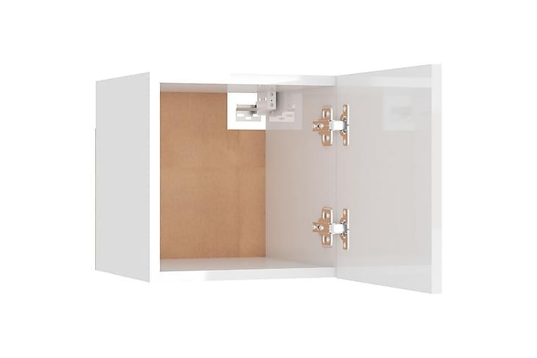 Väggmonterade tv-bänkar 2 st vit högglans 30,5x30x30 cm - Vit - Möbler - TV- & Mediamöbler - TV-bänk & mediabänk