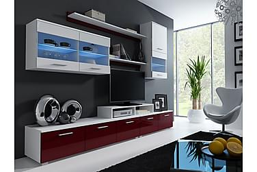Komplett TV-möbelset Madie 250 cm med LED