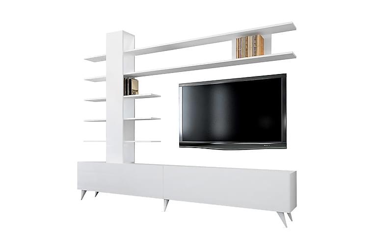 Mediaförvaring George - Vit - Möbler - TV- & Mediamöbler - TV-möbelset