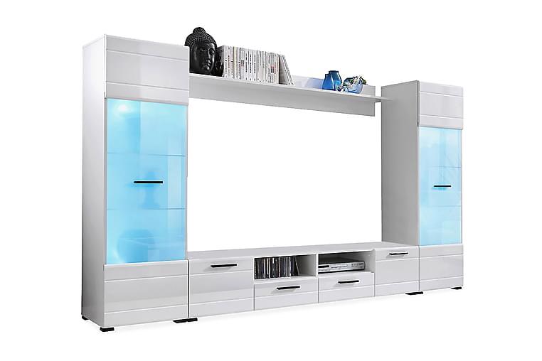 Mediamöbel Vidara 260 cm - Vit - Möbler - TV- & Mediamöbler - TV-möbelset