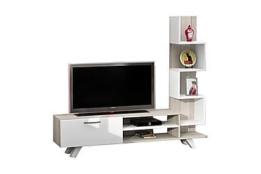 Tv-bänk Crebb med Sidobokhylla