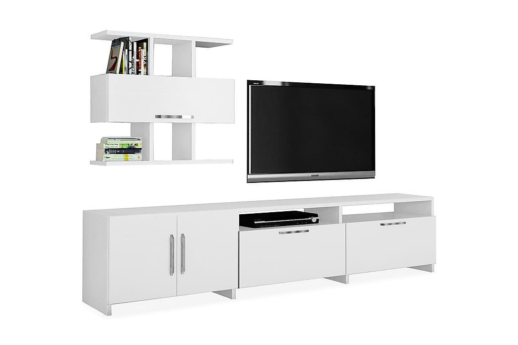Tv-bänk Nolena - Vit - Möbler - TV- & Mediamöbler - TV-möbelset