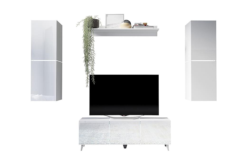 TV-möbelset Domino - Grå/Vit - Möbler - TV- & Mediamöbler - TV-möbelset