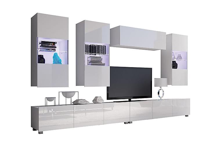 TV-möbelset Frick - Vit - Möbler - TV- & Mediamöbler - TV-möbelset