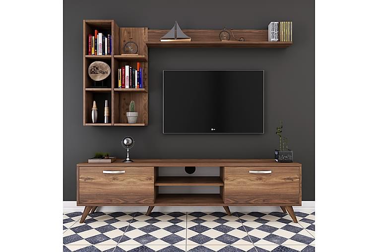 TV-Möbelset Horveryd 180 cm - Brun - Möbler - TV- & Mediamöbler - TV-möbelset