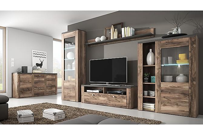 TV-möbelset Larona - Brun|Vit - Möbler - TV- & Mediamöbler - TV-möbelset