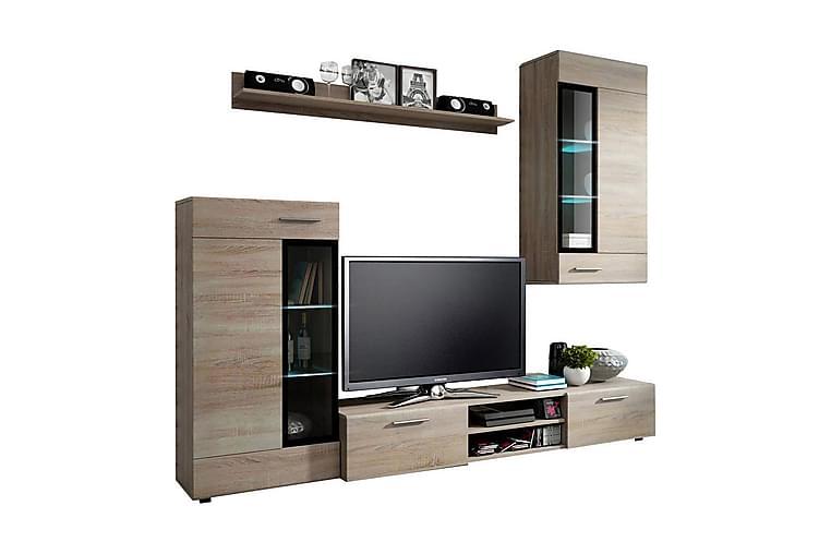 TV-möbelset Tango - Beige/Grå - Möbler - TV- & Mediamöbler - TV-möbelset