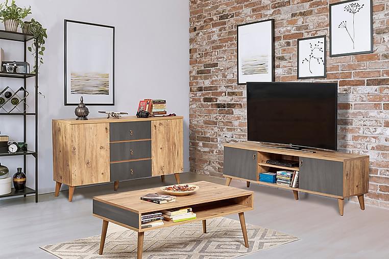 Vardagsrumsset Kitajaur - Brun - Möbler - TV- & Mediamöbler - TV-möbelset